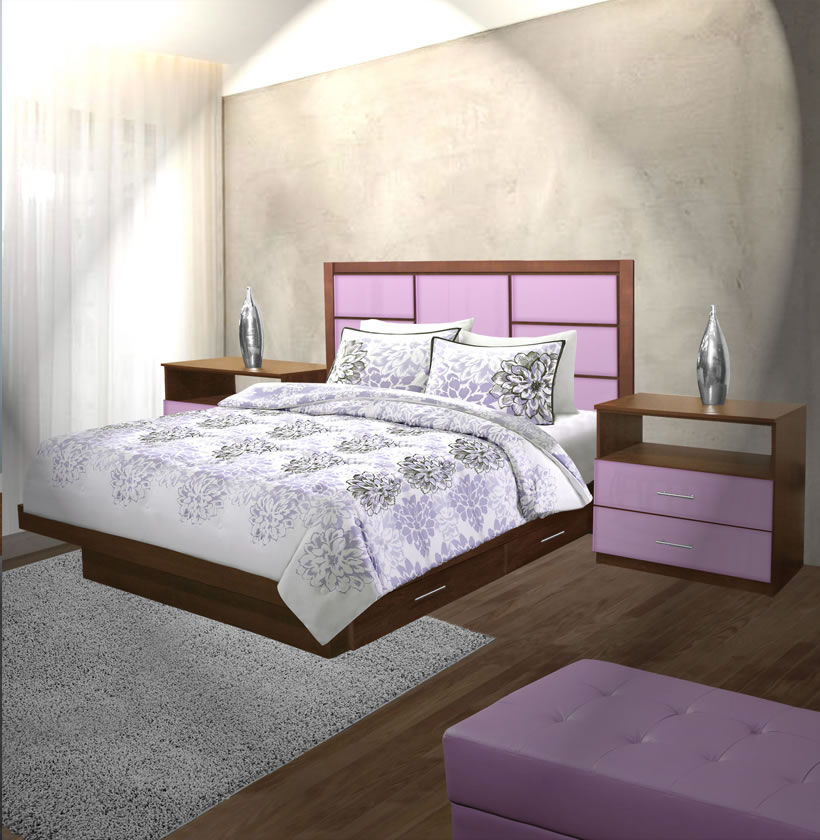 montclair king size bedroom set w storage platform contempo space. Black Bedroom Furniture Sets. Home Design Ideas
