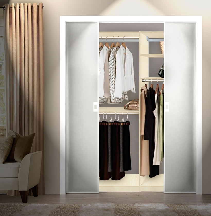 Custom Double Hanging Closet; Custom Double Hanging Closet Built In Closet  Inside