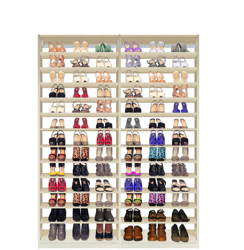 Isa Custom Shoe Closet Double Module Shoe Storage Contempo Space