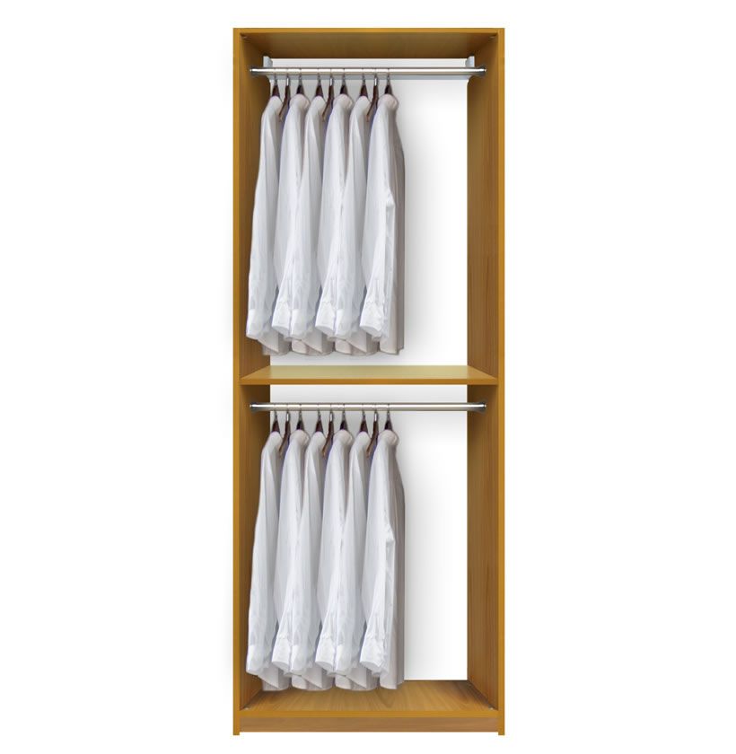 Very best Isa Custom Closet - Double Hanging Clothes Closet System  JR12