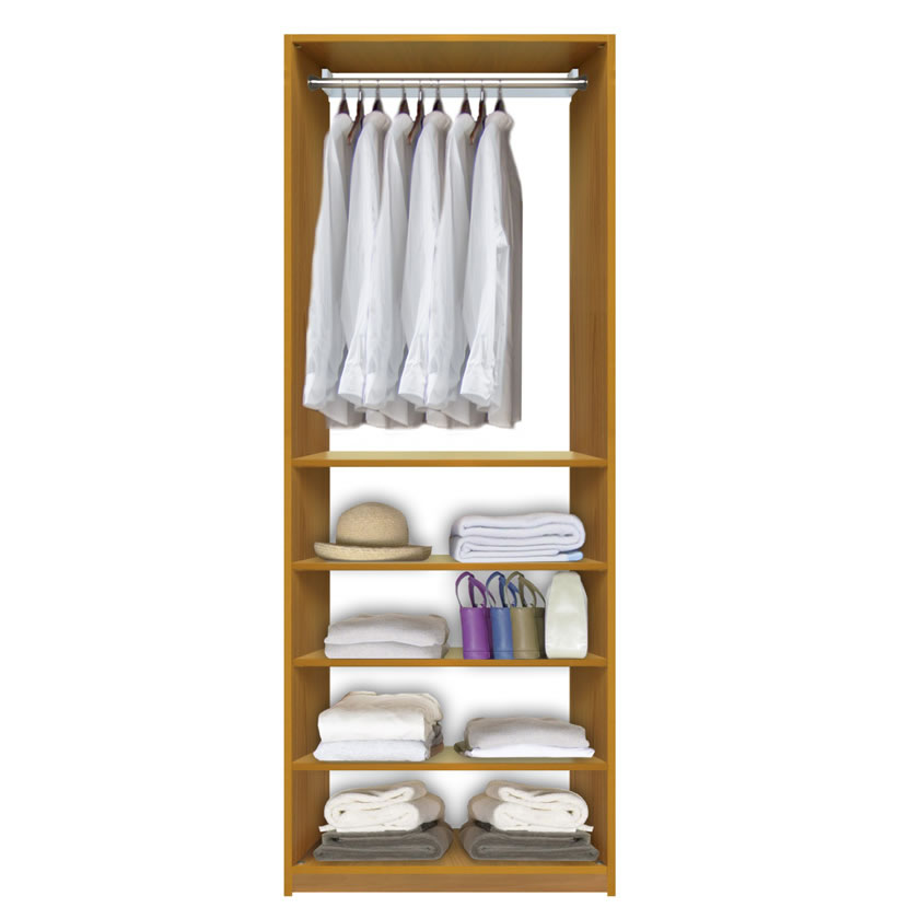 Closet System With Shelving ...