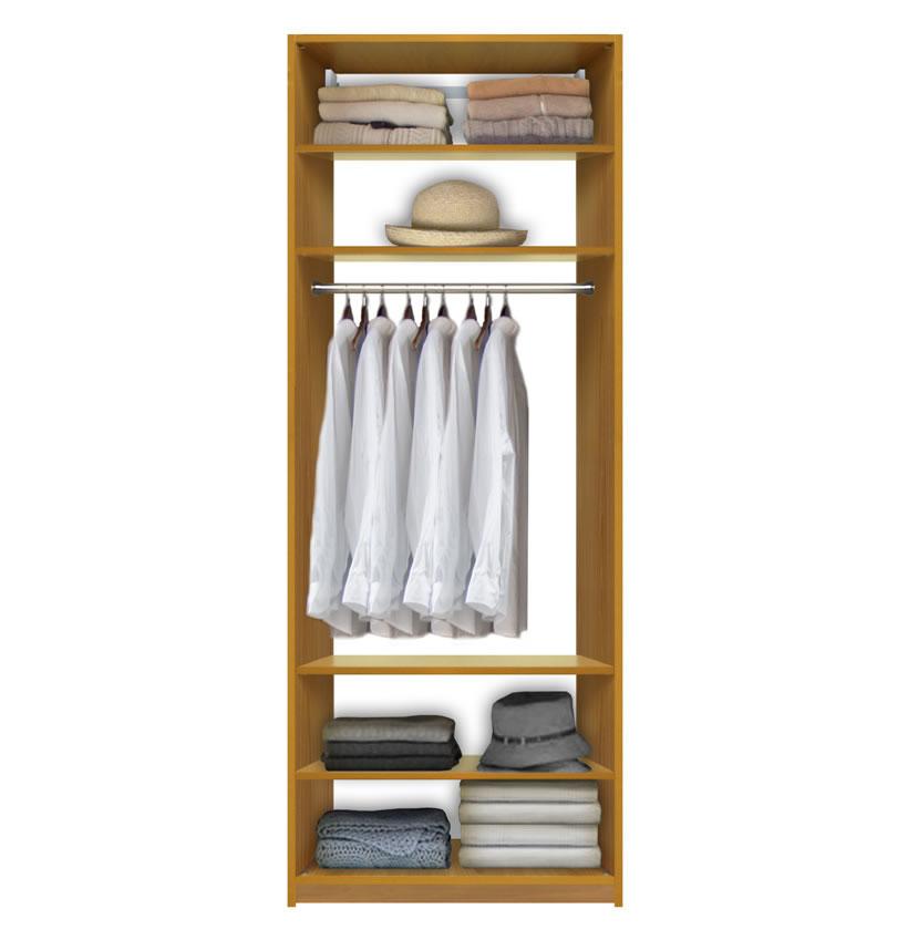 isa custom closet system center hanging 4 adjustable. Black Bedroom Furniture Sets. Home Design Ideas