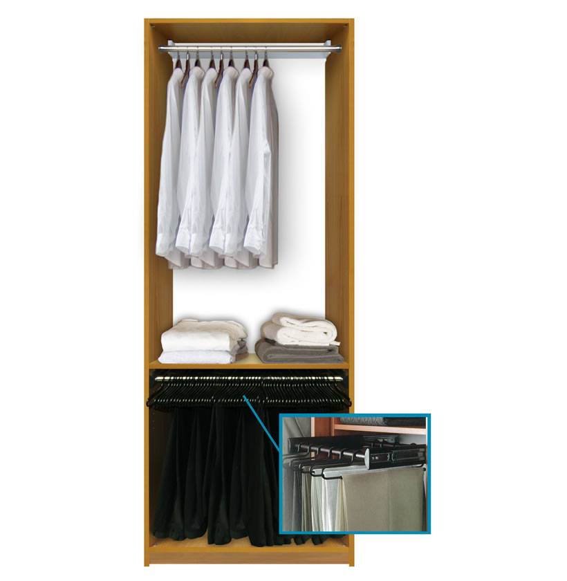 Custom Closet System For Hanging Clothing ...