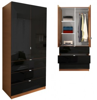 Alta Armoire Wardrobe Black