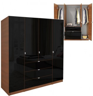 Black Alta Armoire Plus Closet