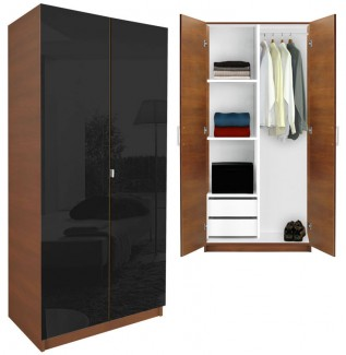 Black Wardrobe Closet Half and Half