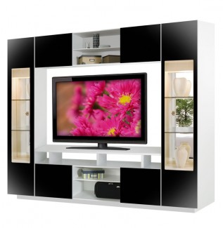 Tyler Wall Unit Black With White Case