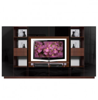 Lucus Black Entertainment Wall Unit