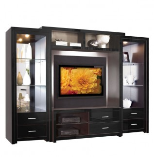 Savoy Wall Unit Black