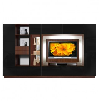 Sebastian Wall Unit Black