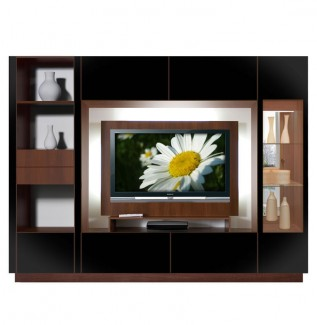 Black Wall Unit TV Backlight