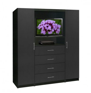 Bedroom TV Armoire Black