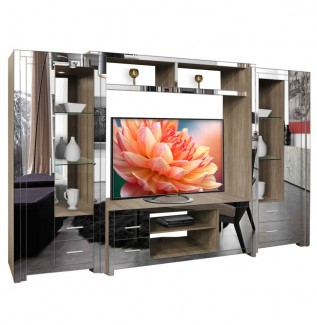 Chrystie entertainment center mirrored front