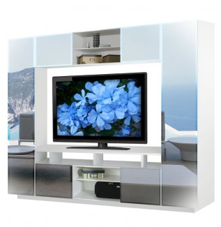 Keegan Mirrored Entertainment Center