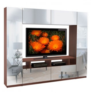 Metropolis mirrored wall unit
