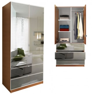 Alta Wardrobe Armoire Mirrored