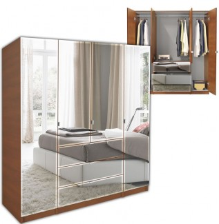 Mirrored Alta Armoire Plus Closet