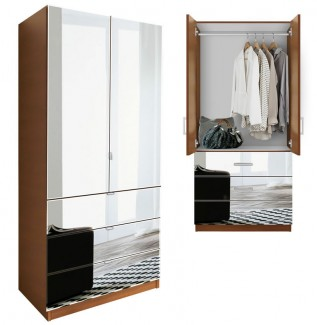 Alta Armoire Mirrored