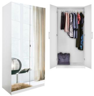 Alta Wardrobe Closet Mirrored