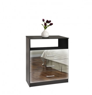 3 Drawer Mirrored Chest Freedom Collection