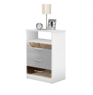 Tall Nightstand Mirrored Freedom Collection