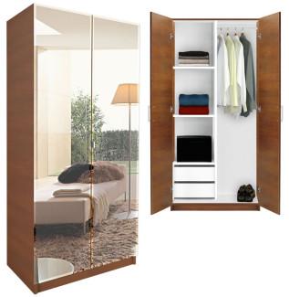 Mirrored Wardrobe Closet Half and Half