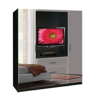 Aventa TV Armoire Mirrored