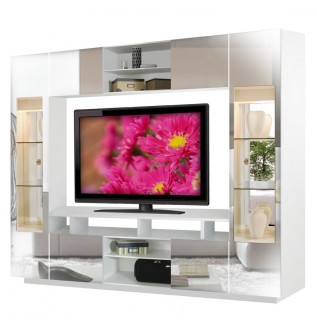 Tyler Mirrored Wall Unit