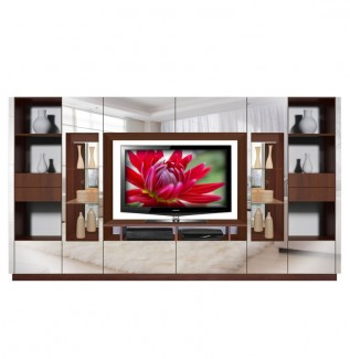 Victor Entertainment Wall Unit Mirrored