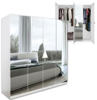Mirrored 4 Door Wardrobe
