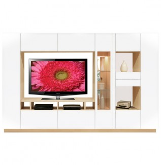 Isabella Wall Unit White & Wood