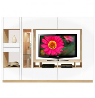 White Moda Wall Unit