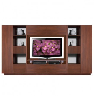 Lucus Wood Entertainment Wall Unit