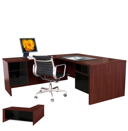 Alexis L Shaped Executive Computer Desk Left Return