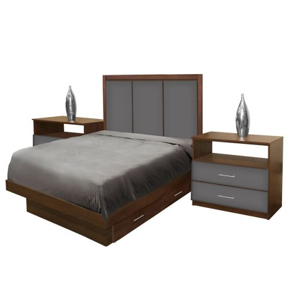 Monte Carlo Twin Size Bedroom Set w Storage Platform