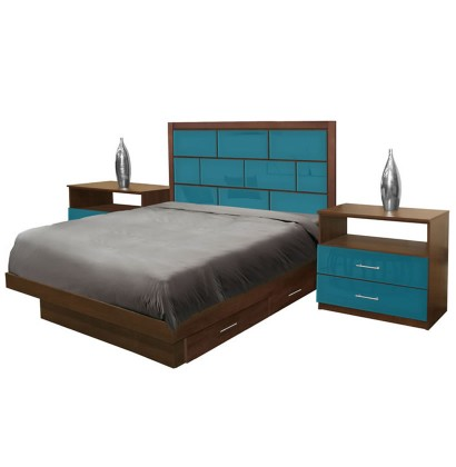 Manhattan Full Size Bedroom Set w Storage Platform