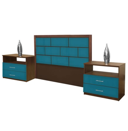 Manhattan Queen Size 3 Piece Bedroom Set Contempo Space