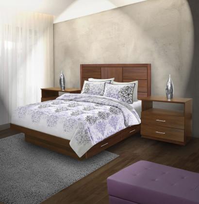 Montclair queen size bedroom set w storage platform - Queen size bedroom set with storage ...