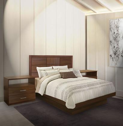 Cambridge Queen Size Platform Bedroom Set 4 Piece