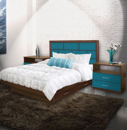 Manhattan King Size Bedroom Set w Storage Platform