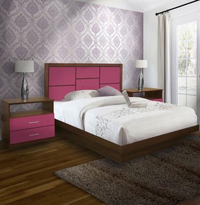 Uptown King Size Platform Bedroom Set 4 Piece