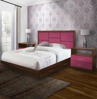 Uptown King Size Bedroom Set W Storage Platform Contempo Space