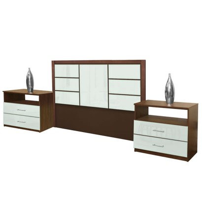 Downtown King Size 3 Piece Bedroom Set