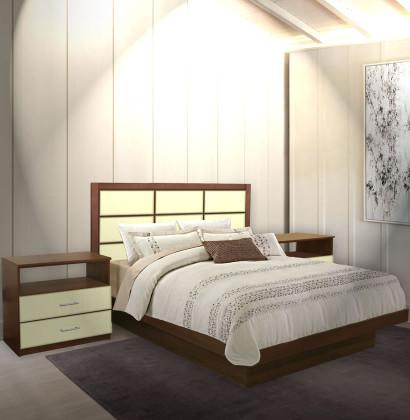Cambridge King Size Platform Bedroom Set 4 Piece