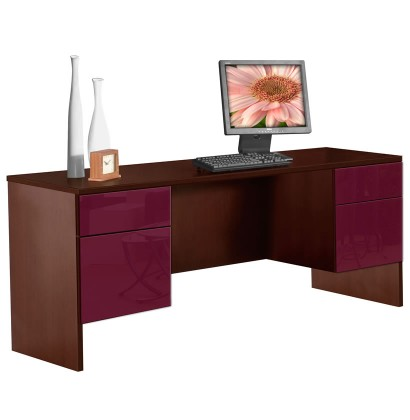 Alexis 4 Drawer Credenza Desk/Workstation