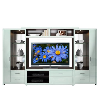Crystal Entertainment Center Icicle Colored Glass