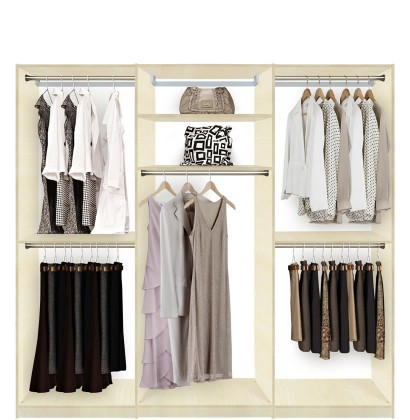 Isa Custom Closets Extra Hanging Clothes Storage