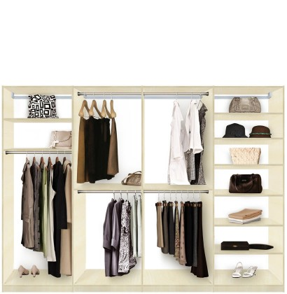Isa Custom Closet System XL For Large Closets   Walk In Or Reach In Closet  Organization ...