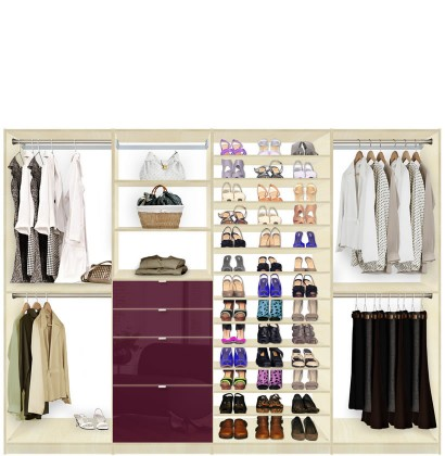 Isa Closet System Max  sc 1 st  Contempo Space & Isa Closet System Max - Shoe Storage Shelves and Drawers | Contempo ...