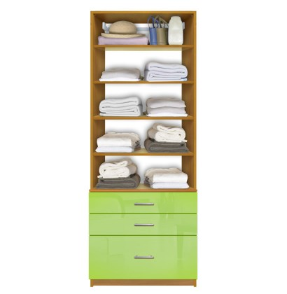 Isa Closet System   Shallow U0026 Deep Drawers, 5 Shelves